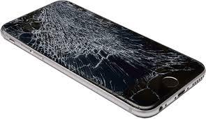 Iphone med smadret skærm