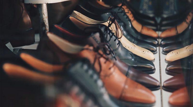 Sko i læder