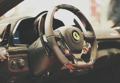 Interiøret i en tilfældig Ferrari